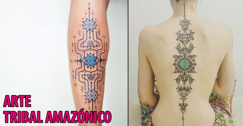 Tatuajes de arte tribal amazónico