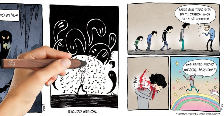 Este artista dibuja sus estados de ansiedad y depresión a través de estos cómics
