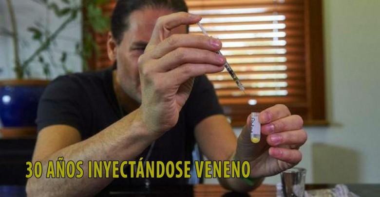 Este hombre lleva 30 años inyectándose veneno para salvar vidas