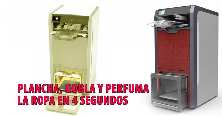 Esta máquina, plancha, dobla y perfuma la ropa en 4 segundos