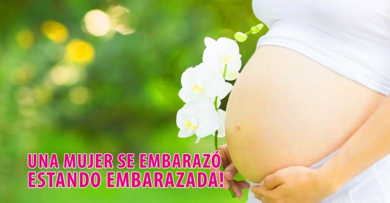 Una mujer se embarazó por segunda vez estando embarazada