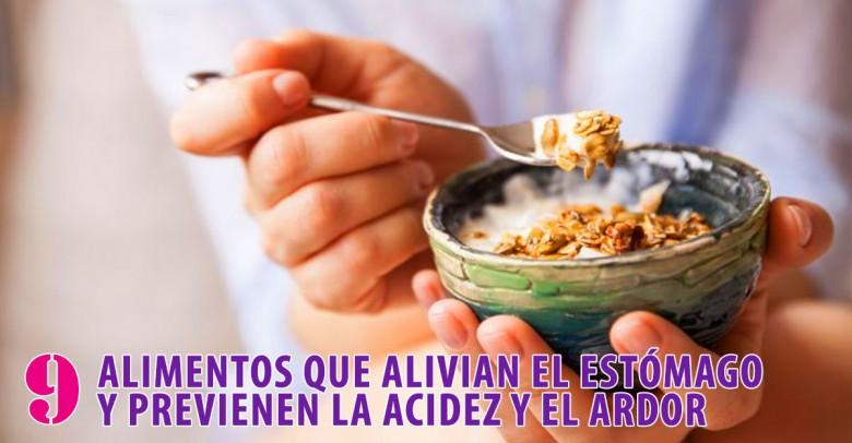 9 alimentos que alivian el estómago y previenen la acidez
