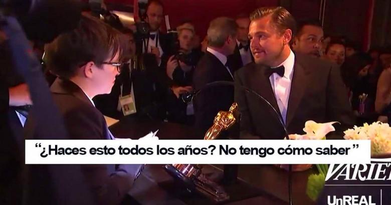 El momento en que Leonardo DiCaprio espera a que graben su nombre en el Oscar es lo máximo