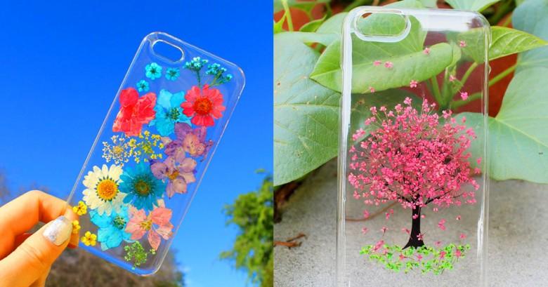 Fundas para el móvil con flores reales, son maravillosas!