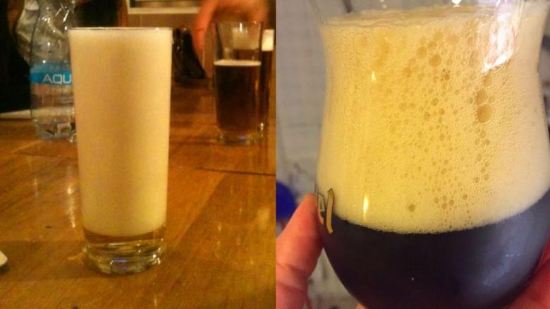 Estas personas realmente tienen un gran problema al servir una cerveza