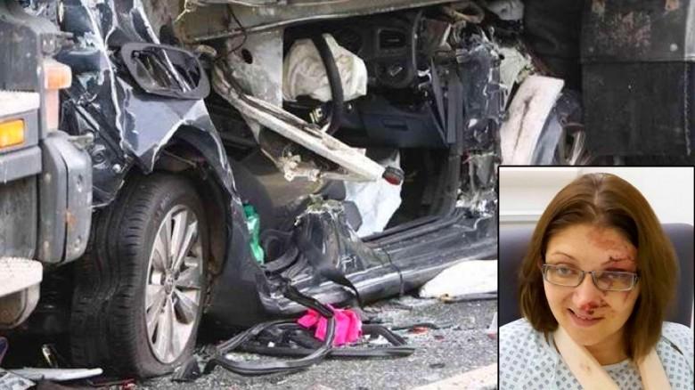 Milagrosamente esta mujer pudo sobrevivir a Este accidente