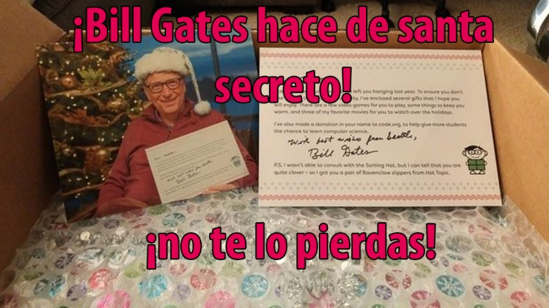 ¡Bill Gates fue santa secreto!