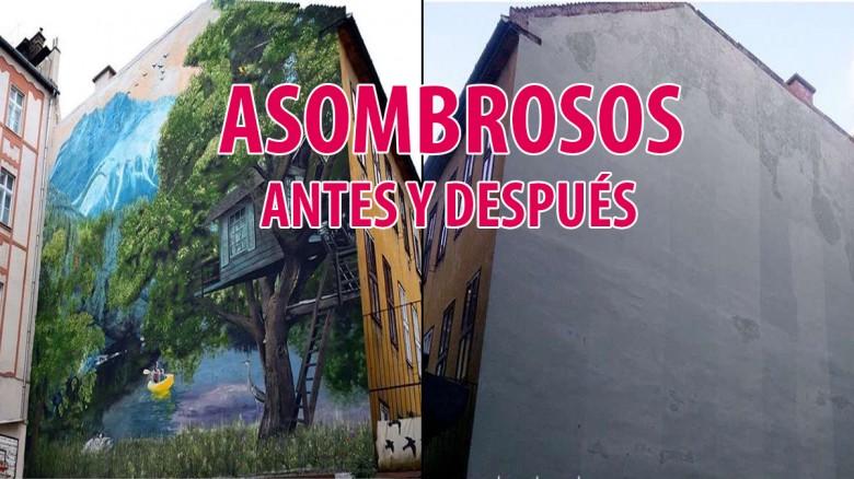Arte urbano en distintas ciudades del mundo (Antes y después).