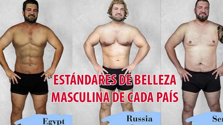 Diseñadores de 19 países usan photoshop para mostrar el estándar de belleza masculina de sus países