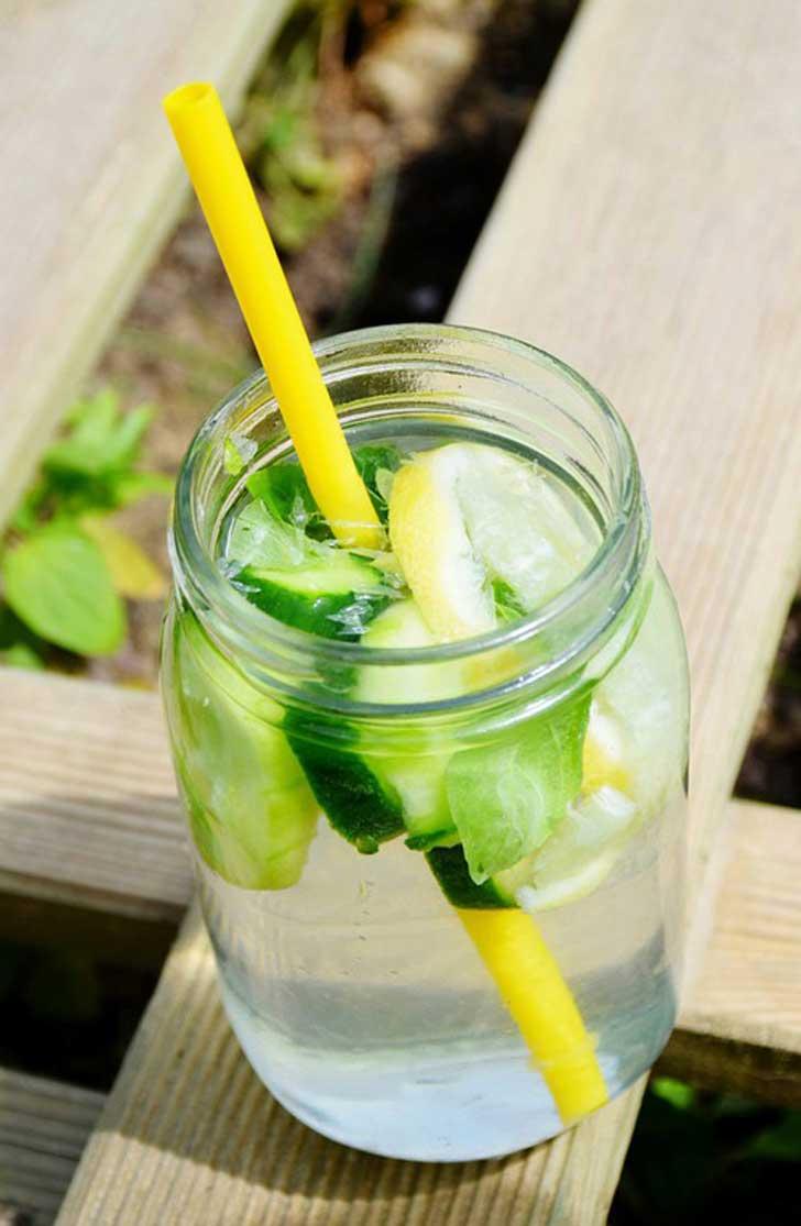 Hoja de menta y limon para adelgazar