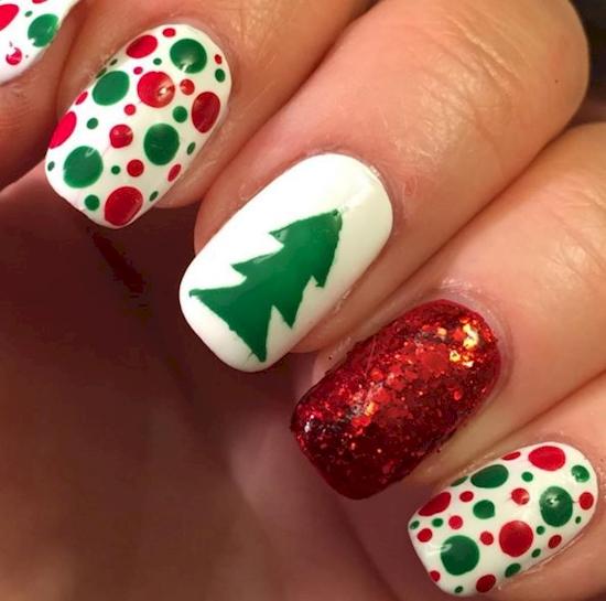 15 dise os de u as fant sticos para estas navidades for Decoracion de unas para navidad