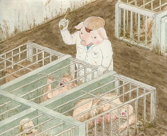 ilustraciones maltrato animal (4)