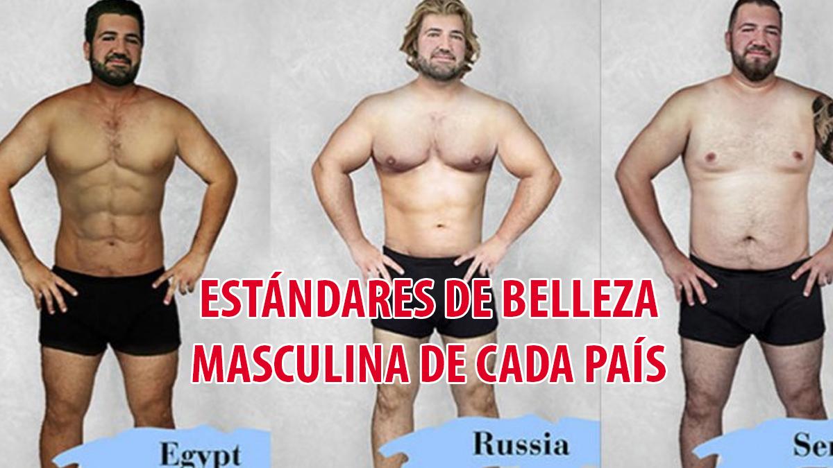 Diseñadores de 19 países usanpotoshop para mostrar el estandar de belleza masculina de sus paises