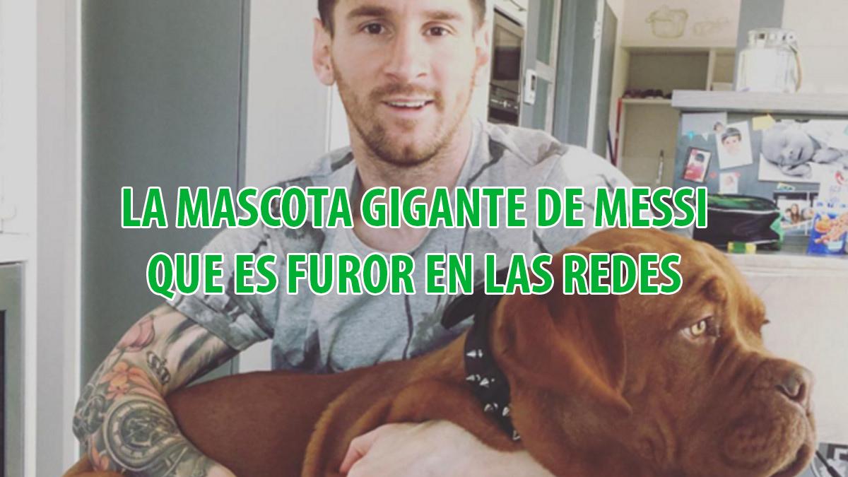 La mascota gigante de Messi se hizo viral en las redes